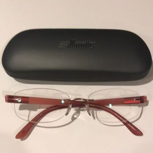 Accessories - Silhouette drilled rimless frame.